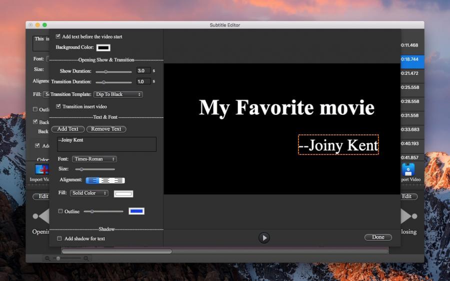 Subtitle Editor Pro | David Team